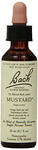 Bach Original Flower Remedies Supplement Mustard 20 ml 07 Fluid Ounce >>> Read more  at the image link. (This is an affiliate link and I receive a commission for the sales)