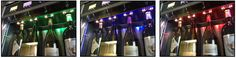 Coloured RGB lighting available to create a stunning showcase for your wines on dispense WineEmotion Wine Dispenser