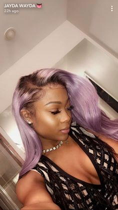 Stylish Weave hairstyles for prom weave hairstyles; weave hairstyles sew in; weave hairstyles for black women Purple Hair Black Girl, Hair Color For Black Hair, Love Hair, Gorgeous Hair, Purple Lace, Brown Hair, Purple Wig, Dark Purple, Light Purple