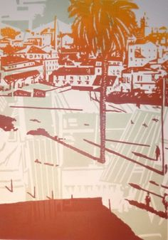 Montreuil - Lisbonne Juliette, Printmaking, Artwork, Fun, Travel, Urban Landscape, Lisbon, Landscapes, Work Of Art
