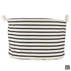 House Doctor Lav opbevaringspose i stof - Stripes