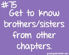 Get to know brothers/sisters from other chapters