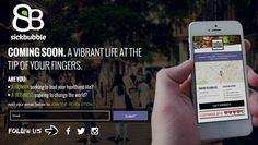 Sickbubble coming soon page #sickbubble #comingsoon #design #web #app #startup  http://www.sickbubble.com