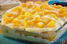 Receita de Pavê de pêssego e coco especial em receitas de paves, veja essa e outras receitas aqui!