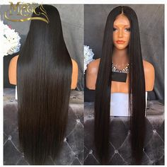 Top 7A grade Unprocessed lace front wig glueless full 150 densitysilky straight human hair full lace wig on big sale