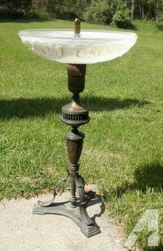 Bird Bath made out of an old lamp