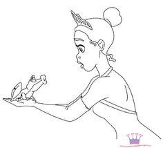 Disney Princess Tiana Coloring Pages Printable Beautiful