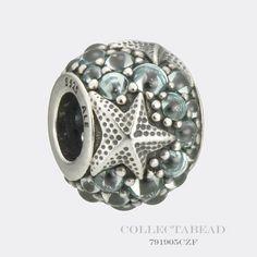 Authentic Pandora Sterling Silver Oceanic Starfish Frosty Mint CZ Bead 791905CZF #Pandora
