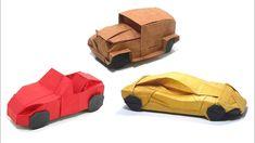 Origami Birthday Card, Origami Car, Origami Mobile, Royce Car, Sports Cars Lamborghini, Derby Cars, Best Muscle Cars, Origami Tutorial, Sport Cars