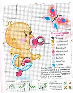 Una Locura de ideas !!! de punto de cruz: Bebés en punto de cruz, niño y niña.