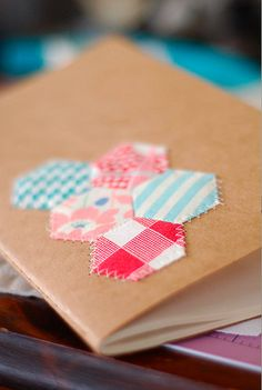 Sew onto a notebook cover
