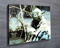 YODA POP ART $26.00–$741.00 This canvas artwork features our favorite little green man in a pop art style. As with all art on this site, we offer these prints as stretched canvas prints, framed print, rolled or paper print or wall stickers / decals. http://www.canvasprintsaustralia.net.au/  #PhotosoncanvasAustralia #Stretchedcanvas #Gicleeprint