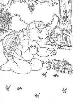 Franklin Ausmalbilder. Malvorlagen Zeichnung druckbare nº 10