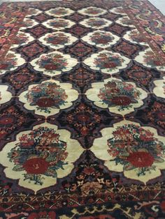 This beautiful antique 600 x 400 Bakhtiyar carpet is a great rare example of Iranian carpets World Market, Iranian, Carpet Runner, Bohemian Rug, Stairs, Runners, Rugs, Antiques, Carpets