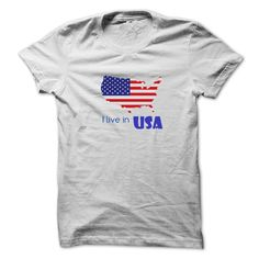 awesome I live in USA  Order Now!!! ==> http://pintshirts.net/country-t-shirts/i-live-in-usa-online.html