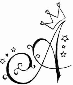 Andrea♥★ Alphabet Letters Design, Hand Lettering Alphabet, Fancy Letters, Letter Art, Pencil Art Drawings, Easy Drawings, Art Sketches, Graffiti Lettering, Lettering Design