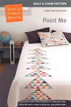 SALE....  Denyse Schmidt Quilts - Point Me Quilt & Sham Pattern - FREE Shipping with min 1 yd fabric on Etsy, $12.75