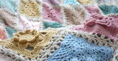 A soft and subtle pastel crochet sampler blanket.