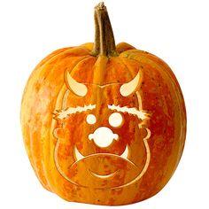 Ogre Pumpkin Stencil