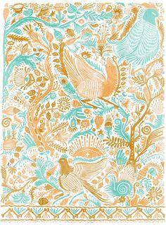 101florals: Llew Mejia: Fuchsia Birds