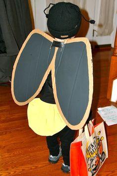DIY Homemade Firefly Lightening Bug Costume for Halloween - back view