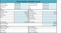 Payslip Template Free Download Income Statement Template Excel Xls  Exceltemple  Income Tax India .