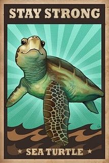 Stay Strong Sea Turtle