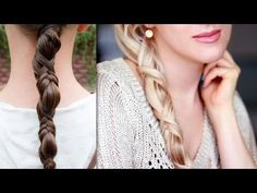 Easy eye catching braid for everyday Criss cross ponytail hairstyle for long hair tutorial - YouTube