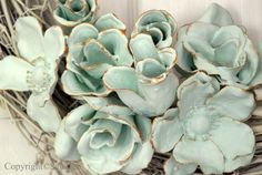 Silk flowers dipped in plaster-of-paris: You may have seen some plaster dipped items previously around the web. But I quite like this idea and thought they warranted a little time in the spotlight. Specifically, dipped faux flowers. by geri.getherallsherlock