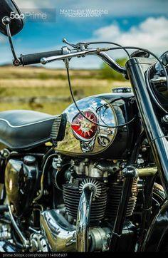 BSA motorcycle - stock photo