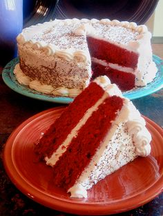 Slow cooker red velvet cake.Delicious cake cooked in slow cooker
