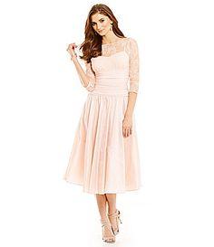 49b948e8081a6 Jessica Howard Illusion Taffeta Party Dress  Dillards Mother Of The Bride  Dresses Vintage