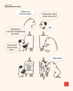 Teach Me How To Draw | Panda and Polar Bear