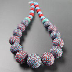 Polymer necklace by Korále.