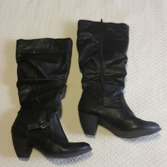 Barely worn Slouch boot with heel prima Shoes Heeled Boots