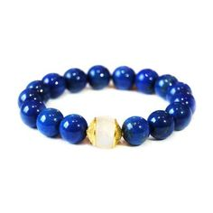 VANESSA - lapis and gold moonstone bracelet | © VELINA