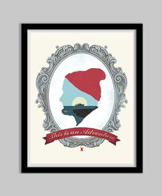 The Life Aquatic With Steve Zissou - This Is An Adventure - 16x20 - steve zissou, life aquatic, movie, poster, bill murray, typography