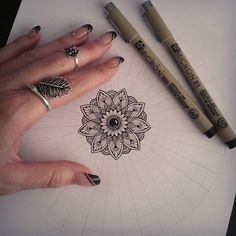 "928 Likes, 12 Comments - Sandra ♡ (@sandraws_to_relax) on Instagram: ""~Work in progress~✍ Started a new A4 mandala drawing ♡ • • • • #mandala #mandalaart #mandalastyle…"""