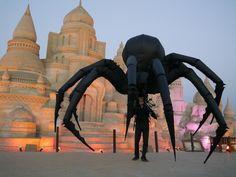 Arachnobot the giant spider puppet in Kuwait