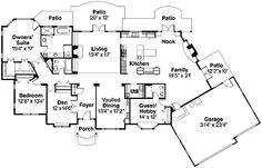 Home Plans HOMEPW00615 - 2,927 Square Feet, 4 Bedroom 3 Bathroom French Country Home with 3 Garage Bays