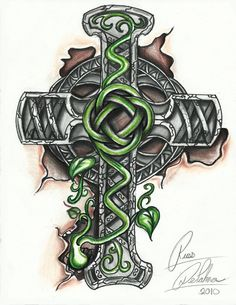 Celtic Cross Tattoo Designs | girl skull and bones cross cross tattoos