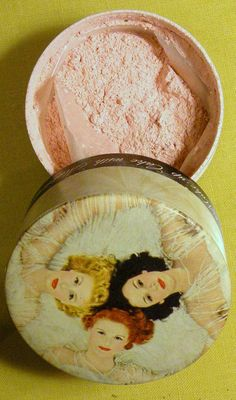 Vintage face powder from Jergens.