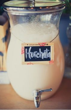 Recipe for Horchata...I just want to buy..looks so refreshing..moving to Venice Beach tomorrow ;) | PLANET BLUE: so good, right now! Horchata, Sugaring LA, Allah-Las....