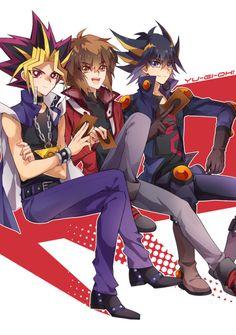 Yami, Jaden and Yusei