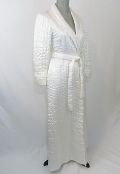 Miss Elaine Vintage Ivory Long Robe XS Quilted Wrap Shawl Collar USA Made   MissElaine  Robes  Everyday. goodhappensmarcia · Womens Sleepwear and  Intimates f5b277509