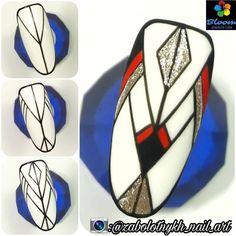 Trendy nail art design diy lines Trendy Nail Art, Nail Art Diy, Diy Nails, Line Nail Art, Aztec Nails, Lines On Nails, Geometric Nail, Pink Art, Cool Nail Designs