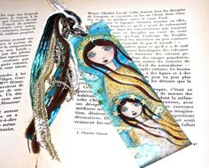 Together in Heaven   Laminated Bookmark  Handmade  by FlorLarios, $8.00