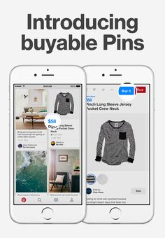 """You can buy any Pin with a blue price tag. Tap """"Buy it"""" and enter your details to check out right from Pinterest."""
