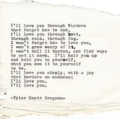 4 Poems that will make you Believe in Love Again. ~ Tyler Knott Gregson   elephant journal