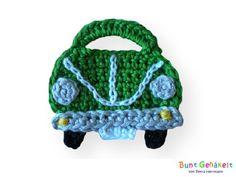 Auto+Mini+grün+von+Bunt+gehäkelt+von+Petra+auf+DaWanda.com